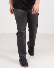 Utopia Twill Cargo Pants Grey