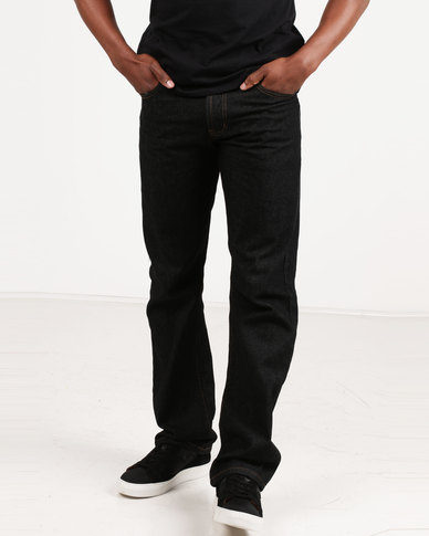 Utopia Mens Basic 12 Ox Jeans Black