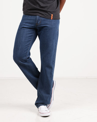 Utopia Mens Basic 12 Oz Jeans Blue