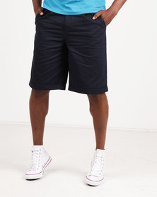 Utopia 100% Cotton Chino Shorts Navy