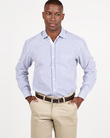 Utopia Striped Lounge Shirt Navy