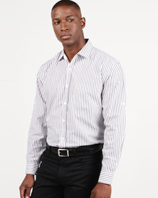 Utopia Striped Lounge Shirt Charcoal