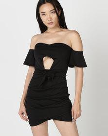 Royal T Sweetheart Bodycon Mini Dress Black