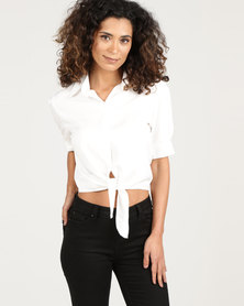 Royal T Buttoned Chambray Shirt White