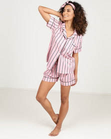 Royal T Stripe Pj Set Pink