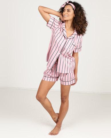 Royal T Stripe Pj Set Pink