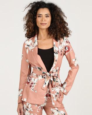 1a39c2c8ace5 Royal T Floral Print Blazer Rust