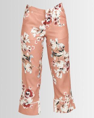 best service d2273 efb36 Royal T Floral Print Trousers Rust