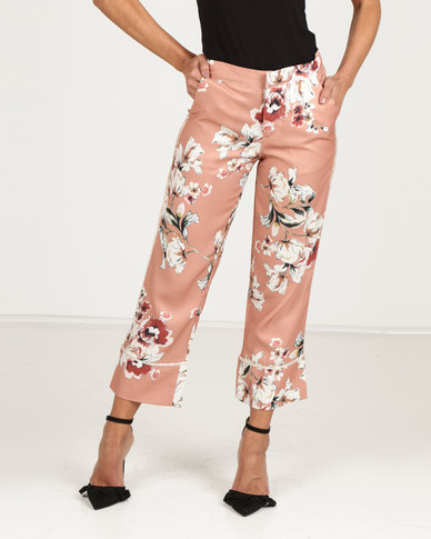 Royal T Floral Print Trousers Rust