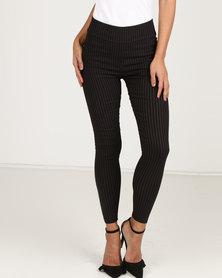 Royal T Stripe Elasticated Pants Black/White