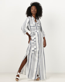 Bukamina Stripe Maxi Dress Blue/White