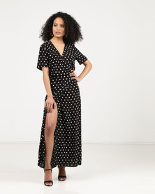 Bukamina Wrap Dress Black