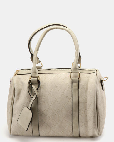 Utopia Faux Leather Weekender Bag Taupe