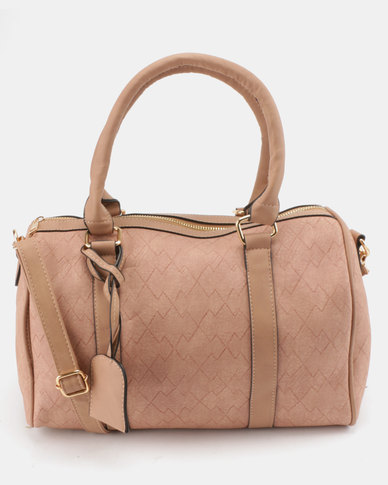 Utopia Faux Leather Weekender Bag Mink