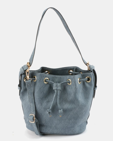 Utopia Drawstring Shoulder Bag Blue