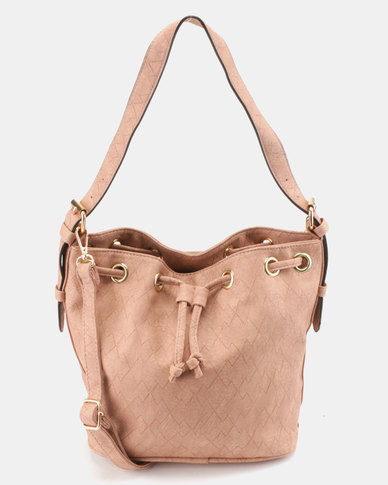 Utopia Drawstring Shoulder Bag Pink