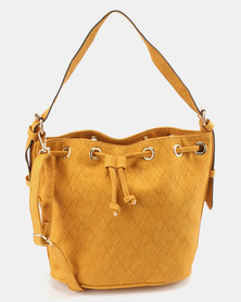 Utopia Drawstring Shoulder Bag Mustard