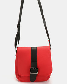 Utopia Buckle Bag Red