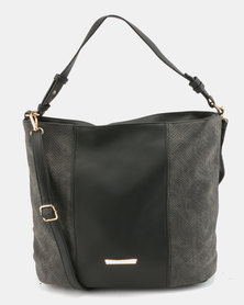 Utopia Fabric Block Bag Black