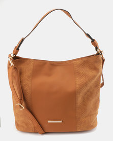 Utopia Fabric Block Bag Tan