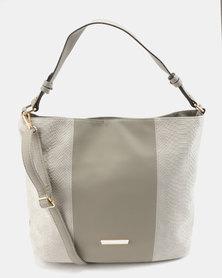 Utopia Fabric Block Bag Grey