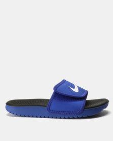 Nike Kawa Adjust (GS/PS) Slides Blue