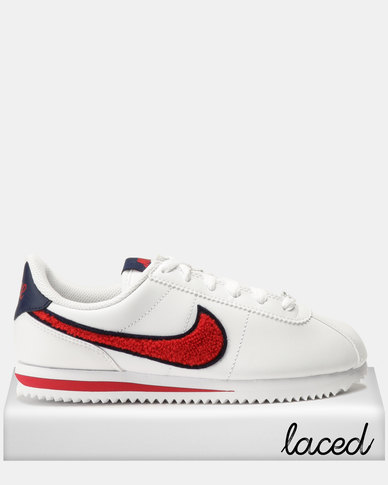 Nike Cortez Basic LTR SE Sneakers White University Red Blue  00602f2b0
