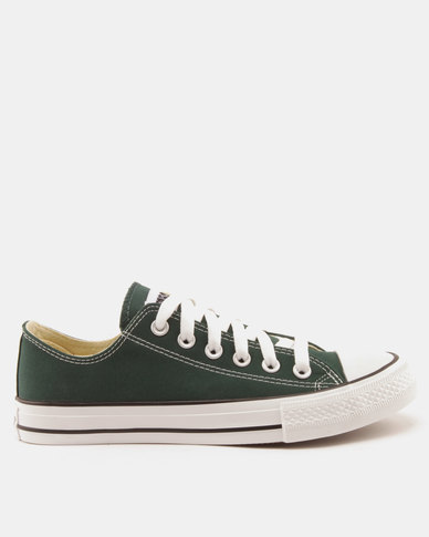 Soviet Viper Fashion Basic Canvas Low Cut Lace Ups Dark Green