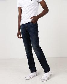 Polo Jeans Co Mens Vintage Straight Leg Jeans Medium Wash