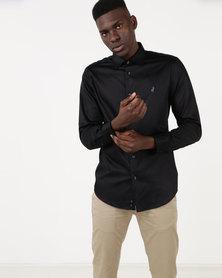 Polo Mens Custom Fit Greig Shirt Black