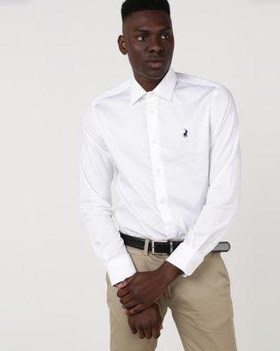 Polo Mens Custom Fit Greig Shirt White