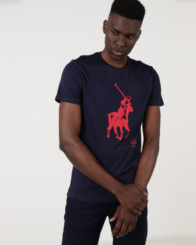 9de14c6b3a94 Polo Mens Classic Big Pony Short Sleeve Crew Neck T-Shirt Navy