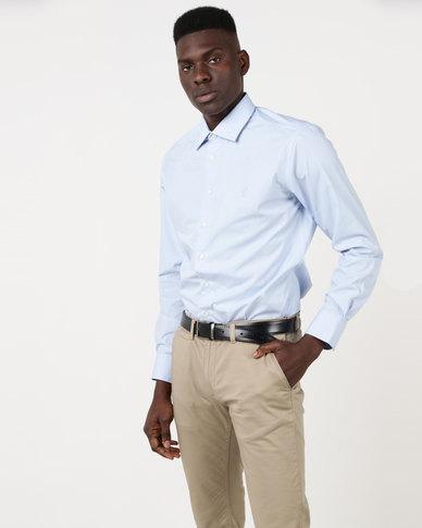 Polo Mens Custom Fit Work Shirt Sky Blue