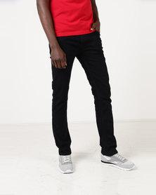 Polo Mens Simon Straight Leg Jeans Black