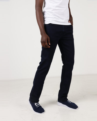Polo Mens Simon Straight Leg Jeans Blue Black