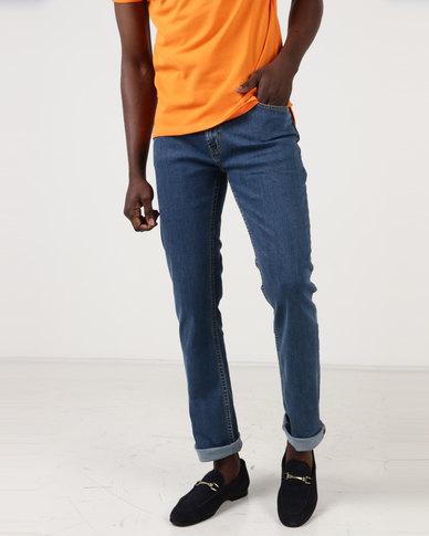 Polo Mens Simon Straight Leg Jeans Stone Wash