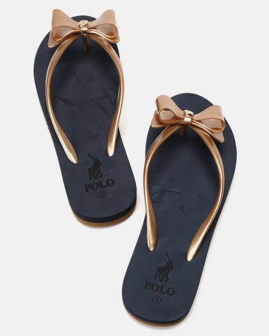 34c76e128 Polo Mila Jelly Flip Flops Gold