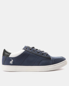 Polo Mens Classic Canvas Sneakers Navy
