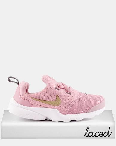 23dc6fe8bbd76 Nike Presto Fly Elemental Sneakers Pink Metallic Gold