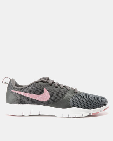 Nike Performance Womens Nike Flex Essential Trainer Dark Grey/ Elemental Pink-Barely Rose