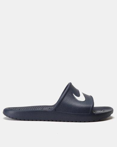 Nike Kawa Shower Slides Midnight Navy/White