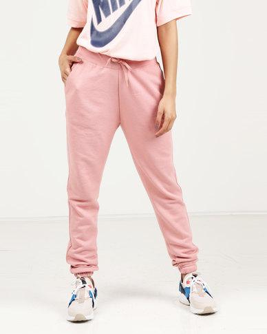 f54b2b55b18b Nike Women s NSW Pants FT REG Rust Pink White