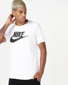 Nike Men's NSW Icon Futura Tee White/Black