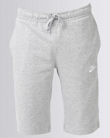 Nike Sportswear Club Shorts Jersey Grey