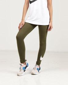 Nike Womens NSW Leggings Club Logo 2 Green