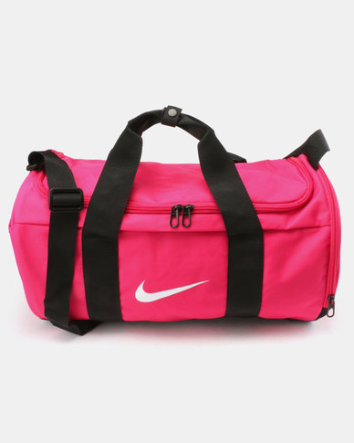 f7146e445f Nike Performance Women s Team Duffle Bag Pink Black