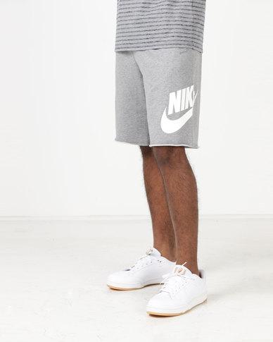 e13c656c27f5 Nike M NSW Shorts FT GX 1 Carbon Heather White