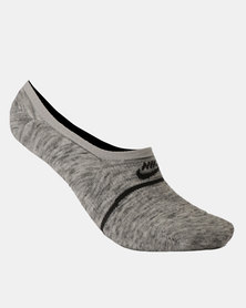 Nike U Sneaker Sox Essential Footie 2 Pairs Grey