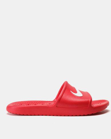 f0612c06aa64 Nike Kawa Shower Slides University Red White