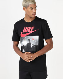 Nike Mens NSW Tee CLTR Nike AIR 2 Black